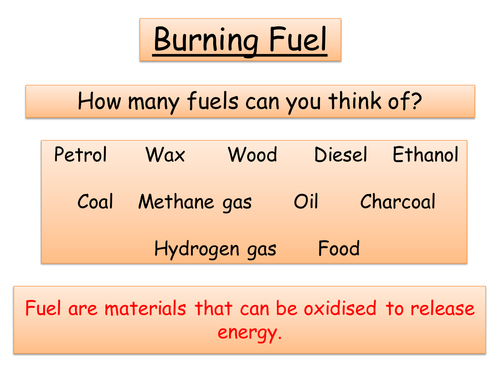 Year 8 Chemistry - Combustion, Fire triangle, Acid rain + Greenhouse effect