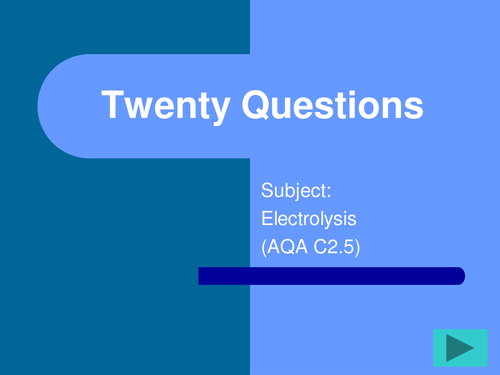 FUN and engaging GCSE science /Chemistry  AQA Additional topics 2.5 Acids and Electrolysis