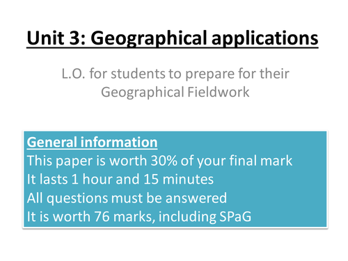 NEW AQA human and physical fieldwork planned for coasts and landuse function