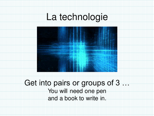 French Easy Technology Quiz