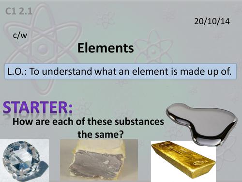 Activate 1:  C1:  2.1  Elements