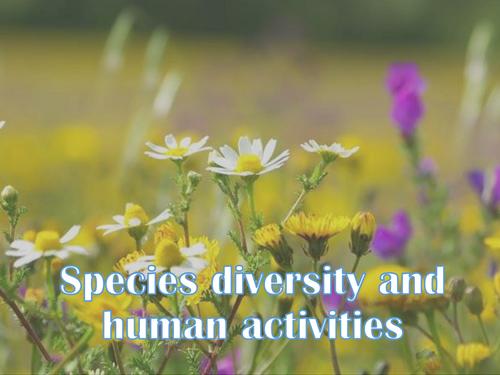 AQA AS - species diversity and human activities