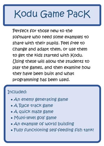 Kodu - Ready Made Games!