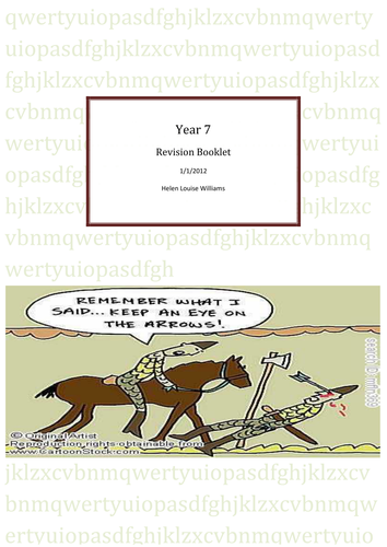 Revision booklet for Year 7 summer exam