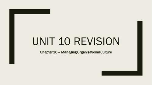 AQA A-Level Business - Unit 10 Managing Strategic Change Revision Quizzes