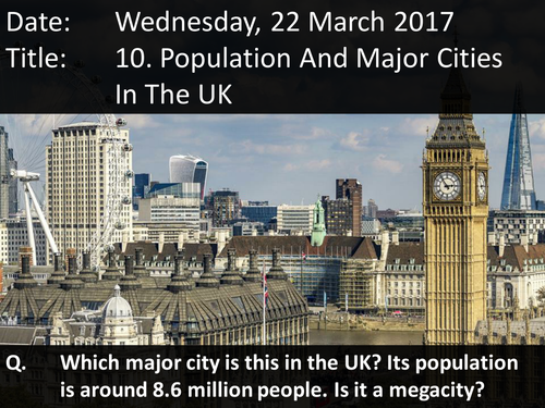 10. Population And Major Cities In The UK