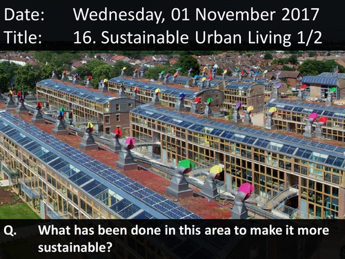 16. Sustainable Urban Living 1/2