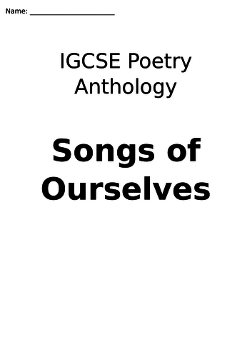 Poetry Anthology for CIE IGCSE Songs of Ourselves Volume 1, Part 5