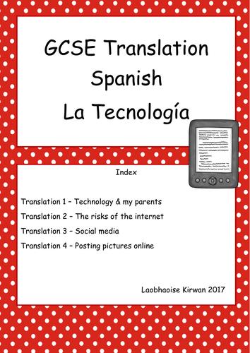 La Technología GCSE 9-1 Translation Booklet (AQA Higher Tier)