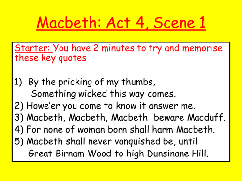 Act 4, Scene 1 Macbeth's visions