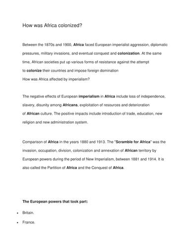 european imperialism in africa essay pipe rifle