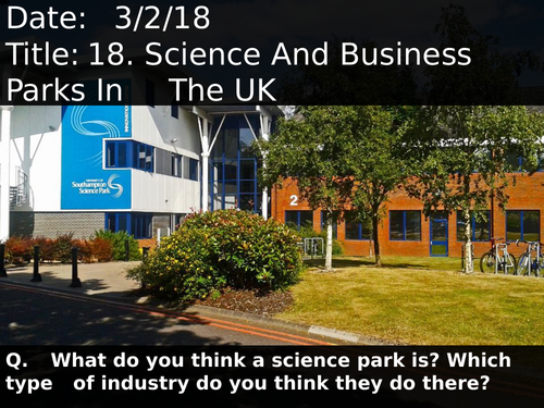 18. Science And Business Parks In The UK