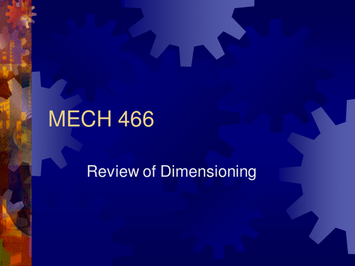 Dimensioning and Line types for engineering drawings