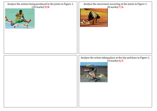 OCR 1-9 GCSE PE joint questions with model answers