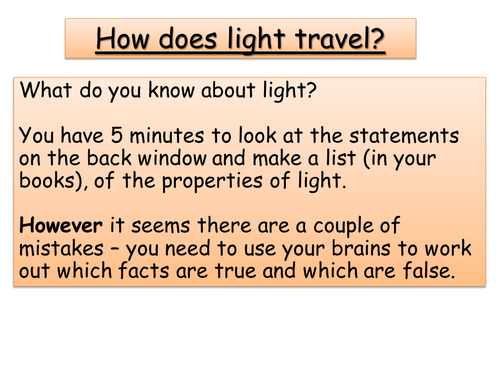 Year 8 Physics -Properties of light, Refraction, Reflection + The eye