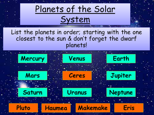 Year 8 Physics - Solar system, Phases of the moon, Seasons + Gravity