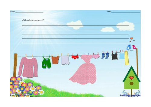 Clothes - worksheet