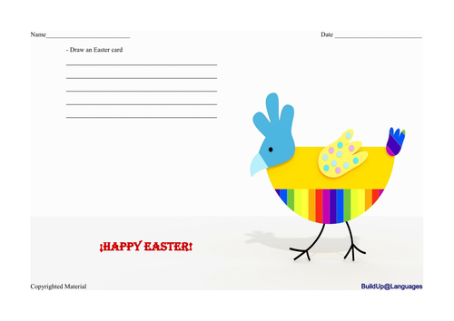 Easter -draw an Easter card