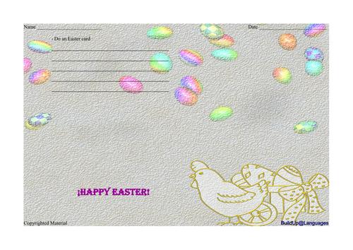 EASTER - do an Easter card