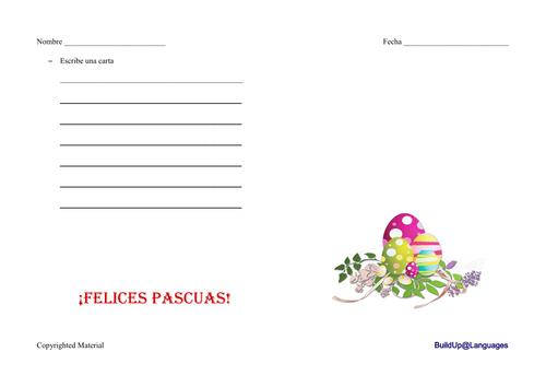 Felices Pascuas -escribe una carta