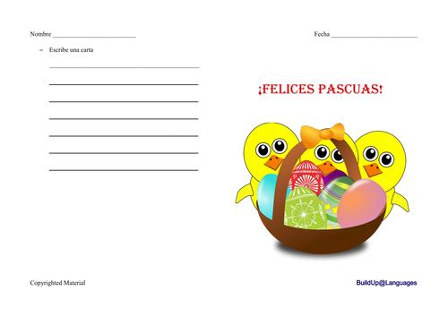 Felices Pascua -escribe una carta