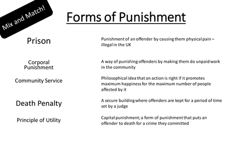 gcse speaking assessment for capital punishment Crime and punishment revision booklet crime punishment and protest through time gcse schools history is the abolition of capital punishment.