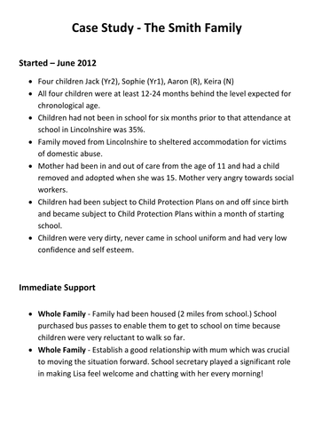 case studies format template - ofsted outstanding case studies examples to show impact of