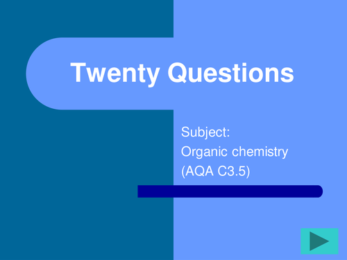 FUN revision resouce for GCSE Triple Chemistry Organic section AQA linked but can be OCR/Edexcel