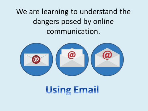 KS2 Online Safety - Using Email Safely - PP with activity and lesson plan