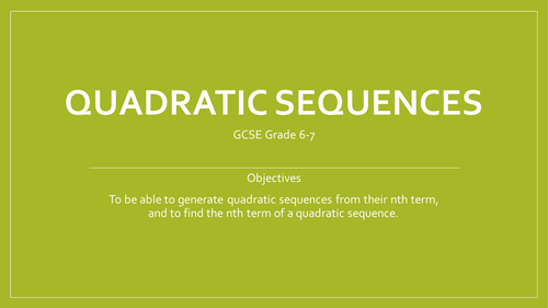 Finding the nth term of a Quadratic sequence