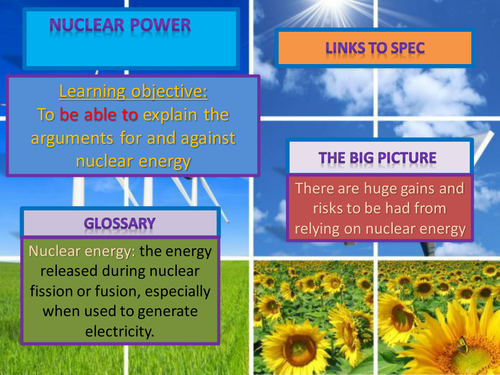 AQA AS level geography (legacy) energy. Nuclear power