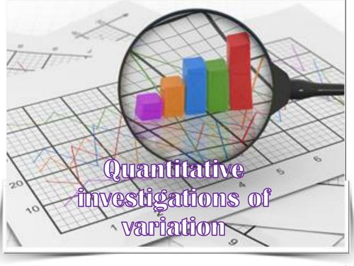 AQA AS - Quantitative measures of variation