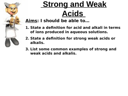 Gcse Chemistry Aqa 2018 Unit 4 Strong And Weak Acids By
