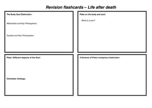 OCR A-Level Life after Death Revision