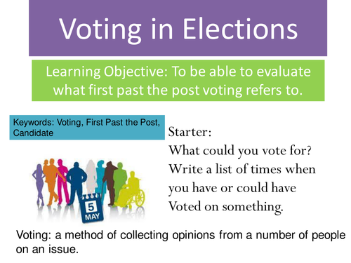 a discussion on canadas first past the post electoral system When we talk about electoral five electoral systems first past the post 7 first past the post (fptp) is canada's current.