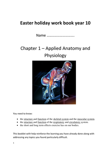 OCR GCSE PE Chapter 1: Applied anatomy and physiology workbook