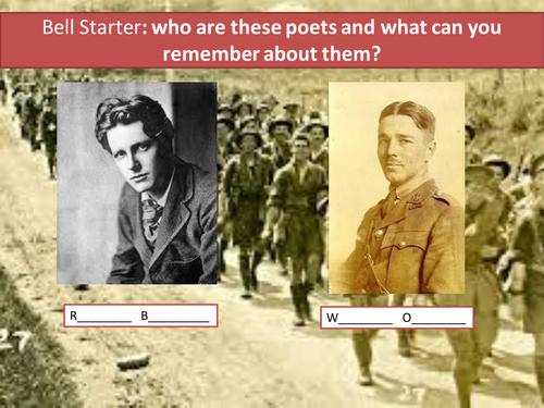 Comparing The Soldier and Dulce Et Decorum Est- Sample Poetry Question - Eduqas Poetry Anthology