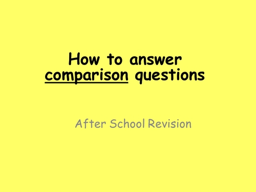 Compare and Contrast Question - New WJEC English Language GCSE - How to answer comparison questions