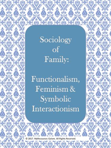 Sociology Of Family Functionalism Feminism Symbolic