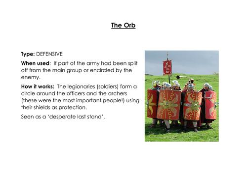 KS3 History: Roman Army Battle Tactics Resources