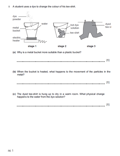 Checkpoint Science-Physics worksheets with mark scheme