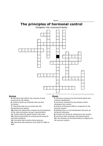 GCSE Biology crosswords NEW specification Chapter 11