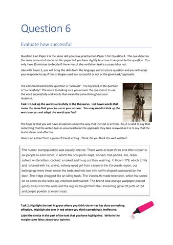 EDEXCEL English Language Paper 2 Question 6