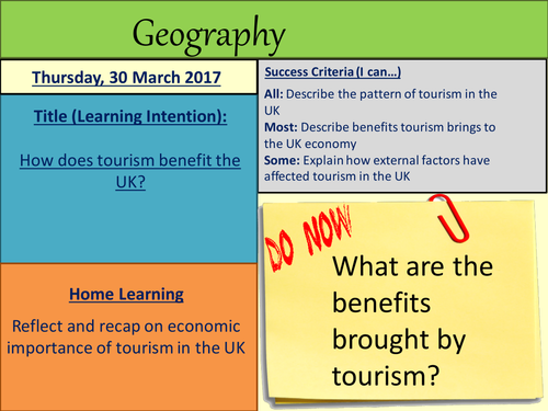 How does tourism benefit the UK?