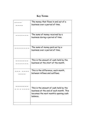 Cash Flow Workbook