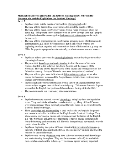 Cause And Effect Essay Papers Ks History Mark Schemesuccess Criteria For Battle Of Hastings Essay By  Hlw  Teaching Resources  Tes Science And Technology Essay also Thesis Statements For Essays Ks History Mark Schemesuccess Criteria For Battle Of Hastings  Argumentative Essay Topics For High School
