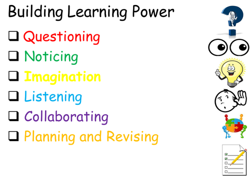 Building Learning Power room display