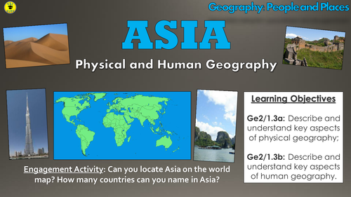 Map Of Asia Ks1.Asia Physical And Human Geography People And Places