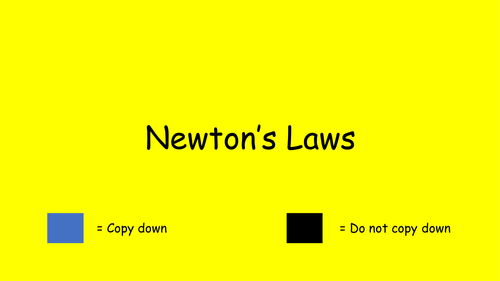 Sir Isaac Newton's three laws of motion lesson plan