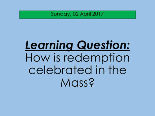 Redemption and the Mass